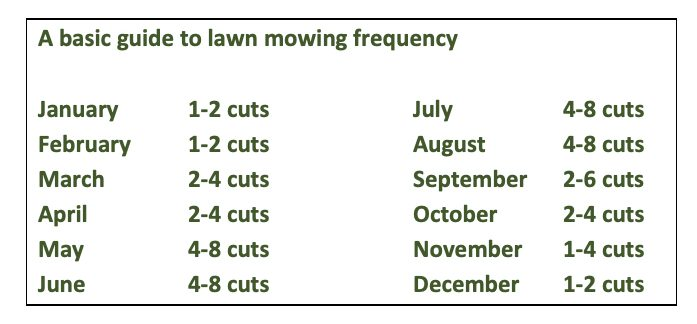 A basic guide to lawn mowing frequency